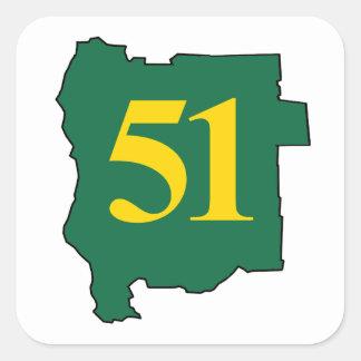 Jefferon 51の州 スクエアシール