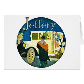 Jefferyの自動車広告 カード