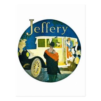 Jefferyの自動車広告 ポストカード