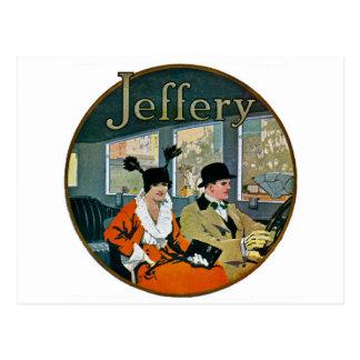 Jefferyの自動車広告-ヴィンテージ ポストカード