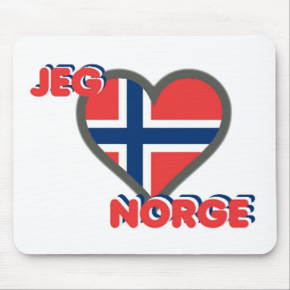 Jeg Elsker Norge (I愛ノルウェー) マウスパッド