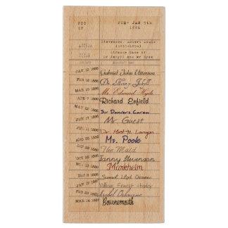 Jekyllおよびハイドの図書館から 木製 USB メモリ