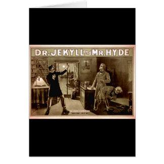 Jekyll先生およびハイドVintage Illustration氏の1880年代 カード