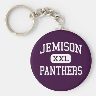 Jemison -ヒョウ-高等学校- Jemisonアラバマ ベーシック丸型缶キーホルダー
