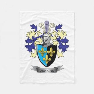 Jenkinsの紋章付き外衣 フリースブランケット