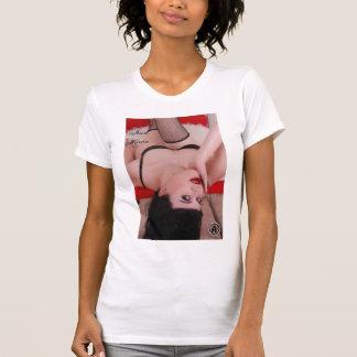 Jennマーティンの(逆さまの)女性ワイシャツ Tシャツ