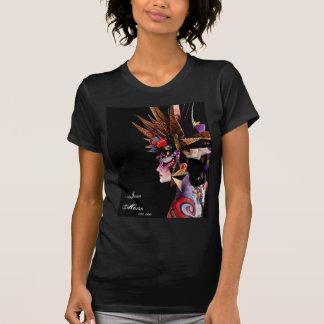 Jennマーティン(ボディーペイント)の女性ワイシャツ Tシャツ
