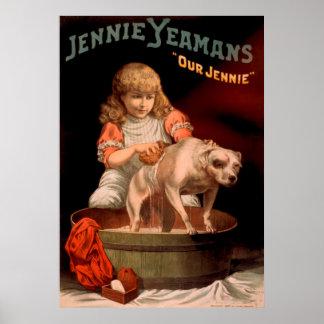 Jennie Yeamansのヴィンテージポスター ポスター