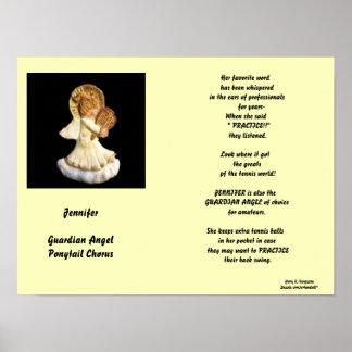 JENNIFER-GUARDIANの天使のポニーテールのコーラスポスター ポスター