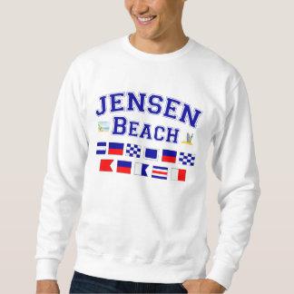 Jensenのビーチ、FL -航海のな旗のスペリング スウェットシャツ