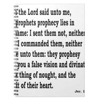 Jer。 14:14 ノートブック