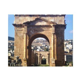 Jerashのローマの出入口 キャンバスプリント