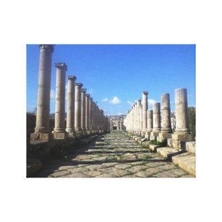 Jerashのローマの道 キャンバスプリント