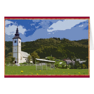 Jereka、スロベニアの教会そして町 カード