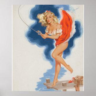 Jerri、芸術の上のビルRandallの予定記事録のcalenda Pin ポスター