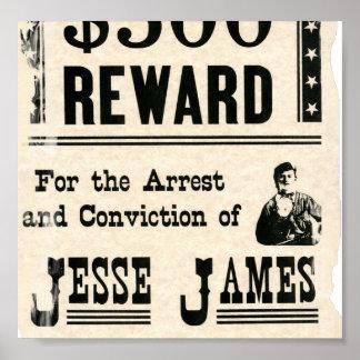 Jesseジェームスのための報酬 ポスター