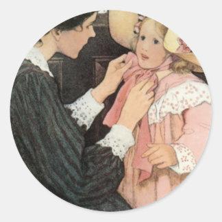 Jessie Willcoxスミスの母子供の母の日 ラウンドシール
