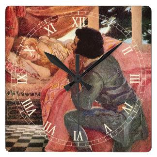 Jessie Willcoxスミス著ヴィンテージの眠れる森の美女 スクエア壁時計