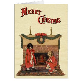 Jessie Willcoxスミス著暖炉による子供 カード