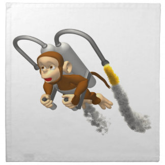 Jetpackの猿の飛行 ナプキンクロス