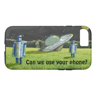 Jetpackcorps著UFOのロボット衝突 iPhone 8/7ケース