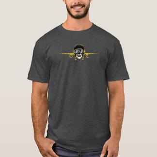 JetsetのLicorice >人のTシャツ-スカルのパイロット Tシャツ