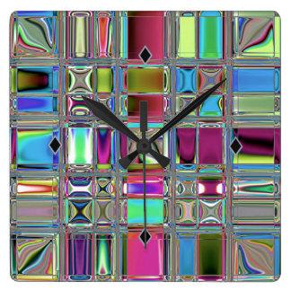 Jeweleeのモダンなモザイク芸術 スクエア壁時計