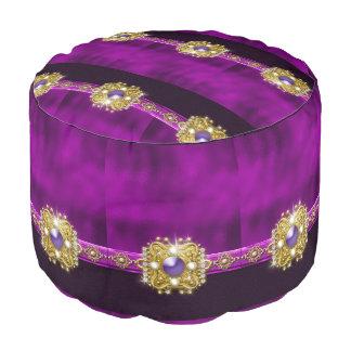 jewlry宝石の紫色の黒い金ゴールド プーフ