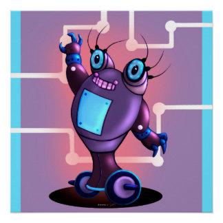 JEZELのかわいいロボット完全なポスター ポスター