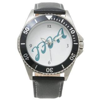 JFIA Deriメンズ不朽の革 腕時計