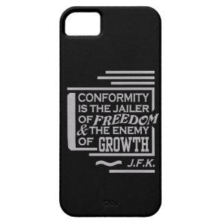 JFKの一致の引用文のiPhone 5の穹窖は、カスタマイズ iPhone SE/5/5s ケース