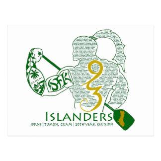 JFKの島民93の懇親会のギア ポストカード