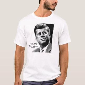 JFKの希望ポスター(黒いまたは白)有名なJFK引用文 Tシャツ