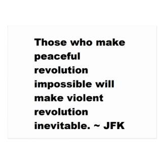 JFKの引用文 ポストカード