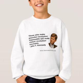 JFKの革命の引用 スウェットシャツ