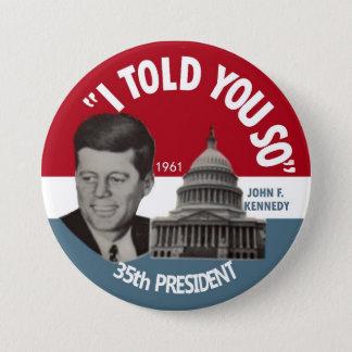 JFK記念Pin 1961年 7.6cm 丸型バッジ