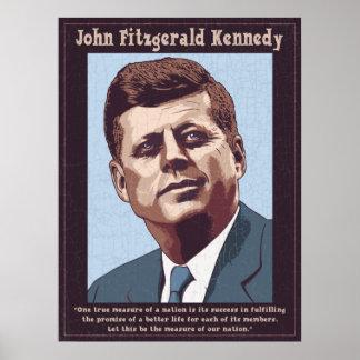JFK -測定 ポスター