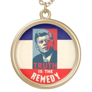 JFK: 真実は治療です ゴールドプレートネックレス