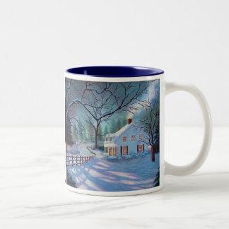 JH Collection.1の冬場面マグ ツートーンマグカップ