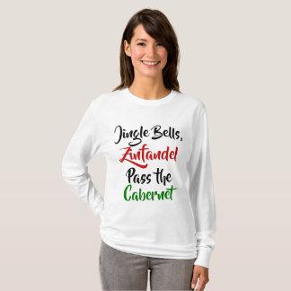 Jingle Bells, Zinfandel, Pass the Cabernet Tシャツ