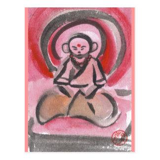 Jizoは修道士郵便はがきをめい想します ポストカード
