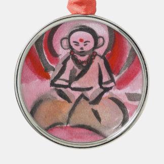 Jizo修道士のオーナメント メタルオーナメント