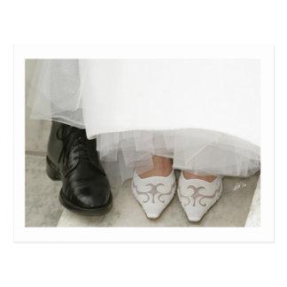 jjhélèneの元のデザインの郵便はがき-結婚式の靴 ポストカード