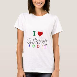 JODIEの一流の印ASL FINGERSPELLED Tシャツ