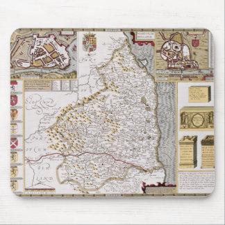 Jodocus Hondiusが刻むノーサンバーランド マウスパッド