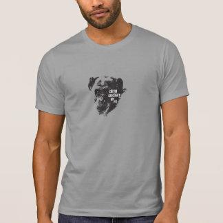 Jodyのチンパンジーのイメージの人かユニセックスなTシャツ Tシャツ