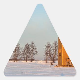 Jõesuuの望楼湖Võrtsjärvエストニア 三角形シール