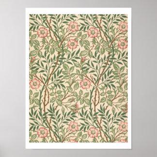 Johが印刷する壁紙のための「甘いイバラ」のデザイン ポスター