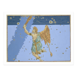 Joha著「Uranometria」からのオリオンの星座、 ポストカード