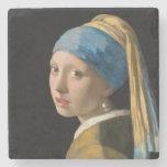 Johannes Vermeer - Girl with a Pearl Earring ストーンコースター